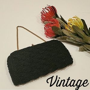 VINTAGE Microbead Made in Japan Clutch Purse